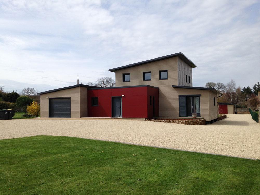 Construction maison ossature bois menuiserie socobois 79